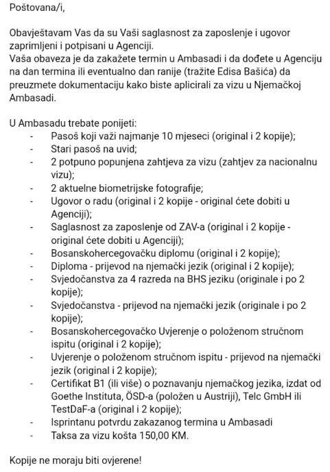 Dokumenti za ambasadu