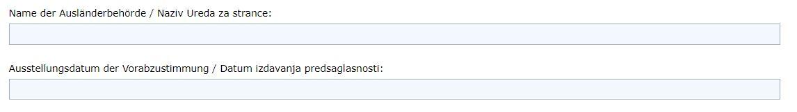 Online Formular Visum BiH