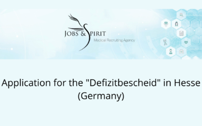 """Application for the """"Defizitbescheid"""" in Hesse (Germany)"""
