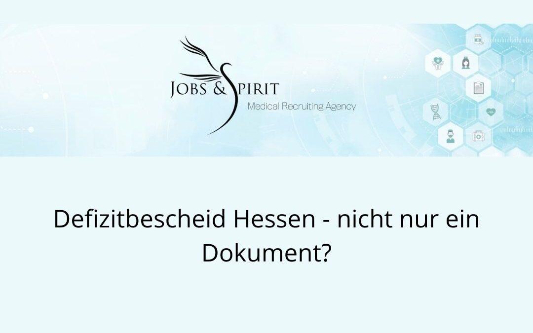 Defizitbescheid Hessen - nicht nur ein Dokument
