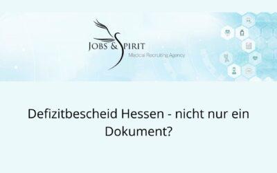 Defizitbescheid Hessen – nicht nur ein Dokument?